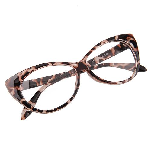 Zebra Eyeglass Frames : Ladies Vintage Cat Eyes Designed Eyeglasses Eyewears Black ...