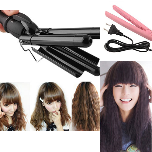 hairdressing tools waving wand hair curling tong mini ceramic hair crimping iron ebay. Black Bedroom Furniture Sets. Home Design Ideas